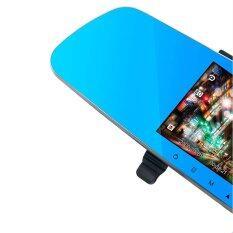 Anytek รุ่น T20 กล้องกระจกมองหลังพร้อมกล้องติดท้ายรถ 1080P FHD DVR  มี WDR  สีดำ (ฟรี microSD 32GB)