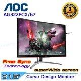 ราคา Monitor Aoc Agon Ag322Fcx 67 31 5 Fhd Curved Gaming Black ราคาถูกที่สุด