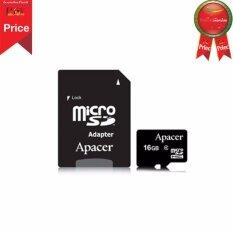 ขาย Apacer Micro Shd Class 4 16Gb With Adapter Ap16Gmcsh4 R Apacer ใน กรุงเทพมหานคร