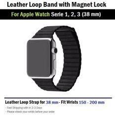 สาย หนัง นาฬิกา Apple Watch 38 mm ทุกซีรีย์ ตัวล็อค แม่เหล็ก -- Replacement Leather Loop Band for Apple Watch Series 1, 2, 3