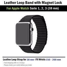 สาย หนัง นาฬิกา Apple Watch 38 mm ทุกซีรีย์ ตัวล็อค แม่เหล็ก - สาย