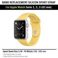 ซื้อ สาย ซิลิโคน สำหรับ นาฬิกา Apple Watch 42 Mm ทุกซีรีย์ Replacement Silicone Band For Apple Watch Series 1 2 3 42 Mm ออนไลน์