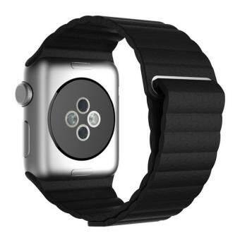Apple Watch สายหนังแท้ผูกกับสายรัดล็อคแม่เหล็กแทนสำหรับ Apple Watch42ม