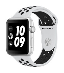 Apple Watch Nike+ GPS 38mm Silver Aluminum Case with Pure Platinum/Black Nike Sport Band