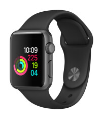 Apple Watch Series 1 38mm Space Grey Aluminium Case with Black Sport Band