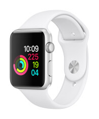 Apple Watch Series 1 42mm Silver Aluminium Case with White Sport Band