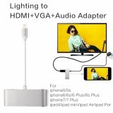 ราคา ราคาถูกที่สุด Original Lighting To Hdmi Vga Cvbs Av 3 5Mm Audio Adapter รองรับ Ios 8 9 10 11 With Micro Usb Power Supply For Iphone 7 Plus 6S 6 Plus 5 5S Ipad 4 Mini