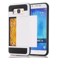 ทบทวน Armor Case For Samsung Galaxy A8 A8 2015 With Secret Credit Card Holder Coque Hidden Slide Slim Card Slot Fundas Intl