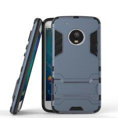 ราคา เกราะมนุษย์เหล็กเคสสำหรับ Motorola Moto G5 พลัสพร้อมที่วางขาตั้ง 2 ใน 1 ป้องกันแรงกระแทก นานาชาติ Stop
