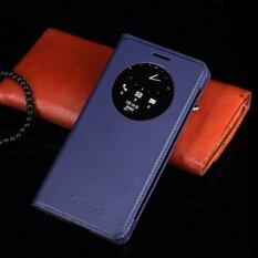 โปรโมชั่น Asuwish Original Leather Case For Asus Zenfone 5 Mobile Phone Case Intelligent Sleep A510Cg Window Case Intl จีน