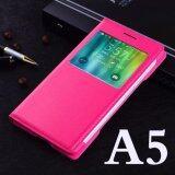 ซื้อ Asuwish บางกระเป๋าดูสมาร์ทอัตโนมัตินอนกรณีปกหนังแท้สำหรับ Samsung Galaxy A5 2015 A500 A500F A500H นานาชาติ Asuwish