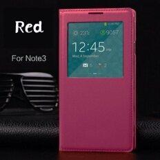 ราคา Asuwish Smart View Leather Flip Case For Samsung Galaxy Note 3 Note3 N900 N9000 N9005 Sleep Wake Back Cover With Chip Phone Case Intl ใหม่