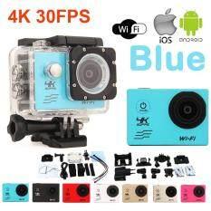 ความคิดเห็น Atm กล้องกันน้ำ Action Camcorder Ultra Hd 4K Wifi สีฟ้า