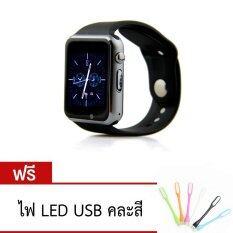 Atm กล้องนาฬิกาบูลทูธ ใส่ซิมได้ Bluetooth Smart Watch Sim Card Camera รุ่น A1 สีดำ ฟรี Usb Led คละสี Atm ถูก ใน นนทบุรี