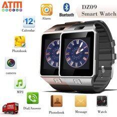 ATM Smart Watch Phone รุ่น DZ09 กล้องนาฬิกาบูลทูธ ใส่ซิมได้ Bluetooth Smart Watch SIM Card Camera แพ็คคู่ 2 เรือน (สีดำ/สีทอง)