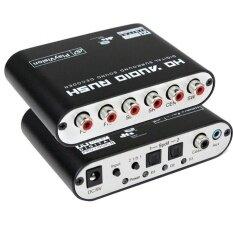 ซื้อ Audio 5 1Ch Ac3 Dts Digital Sound Decoder Optical Spdif Coaxial To 6Rca Intl ถูก จีน