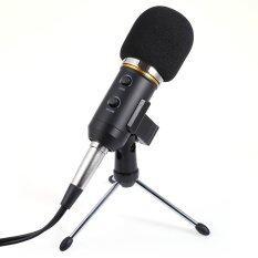ขาย Audio Sound Recording Condenser Microphone With Shock Mount Holder Clip 3 5Mm Audio Usb Dual Cable Black เป็นต้นฉบับ