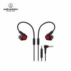 Audio Technica In-Ear Dual Armature Driver Headphones with In-line Mic & Control รุ่น ATH LS200iS Red