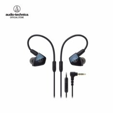 Audio Technica In-Ear Quad Armature Driver Headphones with In-line Mic & Control รุ่น ATH LS400iS Black