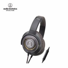 Audio Technica Solid Bass Headphones W/Remote mic for Iphone & Smartphone รุ่น ATH WS770iS Gun Metal