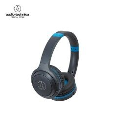 Audio Technica Wireless On-Ear Headphones with Built-in Mic & Controls รุ่น ATH S200BT - Gray/Blue