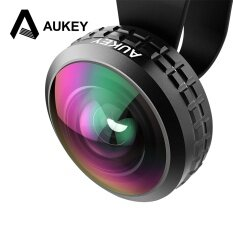 Aukey 2X Super Wide Angle Optic Pro Lens 238 Degree High Clarity Cell Phone Camera Lens Kit Intl ถูก