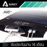 โปรโมชั่น Aukey Pb P3 ที่ชาร์จไฟจากพลังงานแสงอาทิตย์ 2 Portsusb Sunpower Solar Charger 14W สีดำ สินค้าของแท้ รับประกัน 18 เดือน Aukey