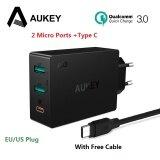 ซื้อ Aukey Quick Charge 3 Usb Type C Quick Charger Adapter For Samsung Galaxy S8 S7 Lg Xiaomi Iphone Laptop Mobile Phone Charger Pa Y4 Intl ออนไลน์