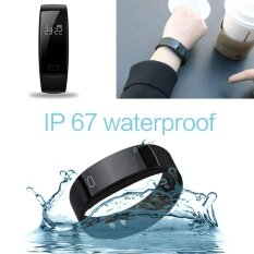 ทบทวน Aukeysmart Qs80 Bluetooth Smart Bracelet Watch Heart Rate Sleep Monitor Sports Wristband Intl Aukey