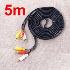 Av Composite 3 Rca Cable Male Video Stereo Audio Triple 3 Rca Cord Dvd Tv 5 M สืดำ Unbranded Generic ถูก ใน กรุงเทพมหานคร