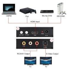 ราคา ราคาถูกที่สุด Av S Video To Hdmi Converter Audio Video Signal Converter 1080P Hd Display Eu Plug Intl