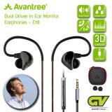 ขาย Avantree รุ่น D18 หูฟังเสียงแน่นมีไมค์ในตัว แบบ Dual Driver ที่เปลี่ยนการดูหนังฟังเพลงบนมือถือ ให้เหมือนอยู่ในโรงหนัง สีดำ Dual Driver 3D Surround In Ear Monitor Earphones กรุงเทพมหานคร ถูก