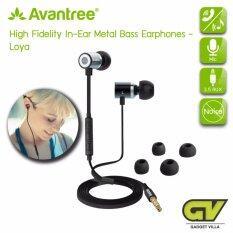 ซื้อ Avantree หูฟังขนาดเล็ก แบบใส่ในรูหู พร้อมไมโครโฟน และปุ่มปรับเสียง เปลี่ยนเพลง รับสาย รุ่น Loya สีเทาดำ High Fidelity Headset With Microphone In Ear Metal Bass Earphone ใหม่