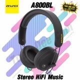 ขาย Awei A800Bl Full Size Wireless Headset Stereo Hifi Music Headphones ออนไลน์