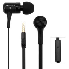 ขาย Awei Es100I Earphone 1 2M With Mic For Mobile Phone Tablet Pc Black ถูก