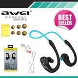 โปรโมชั่น Awei หูฟังบลูทูธ สำหรับออกกำลังกาย Super Bass กันเหงื่อ กันน้ำ Bluetooth Sports Headphones รุ่น A880Bl สีดำ