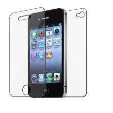 ขาย Back Premium 9H Tempered Glass Screen Protector For Apple Iphone 4 4S Unbranded Generic ถูก