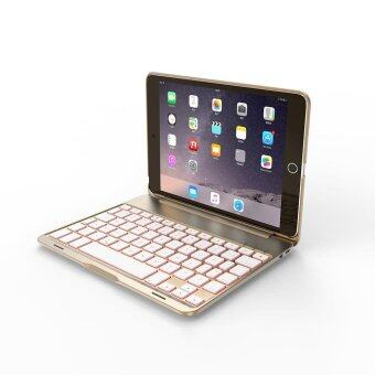 Backlight Backlit Wireless Bluetooth Keyboard Cover Stand Case F8Smini+ for iPad Mini 4 - intl