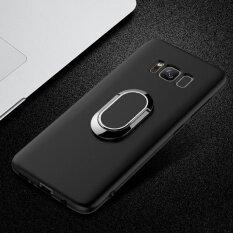 ซื้อ Bakeey 360 ° ปรับแหวนโลหะมีขาตั้งพับเก็บได้ แม่เหล็กมีน้ำค้างแข็งอ่อนนุ่มทีพียูสำหรับ Samsung S8 พลัสสีดำ นานาชาติ Unbranded Generic ออนไลน์