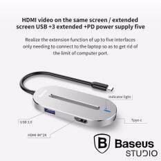 โปรโมชั่น Baseus Type C To Hdmi 4K 3 Usb 3 Hub ถูก