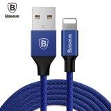 ราคา Baseus Yiven 8 Pin Charging Sync Data Braided Cable 1 2M For Iphone Blue Intl Baseus ออนไลน์