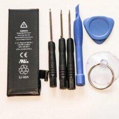 Battery Iphone5 New แบตไอโฟน5 พร้อมเครื่องมือ 1440Mah 3 8V Li Ion Internal Battery Replacement With Tools Kit For Iphone 5 เป็นต้นฉบับ