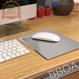 ส่วนลด Bb Shop อลูมิเนียม Mouse Pad แผ่นรองเม้าส์แบบอลูมิเนียม 1 ชิ้น สีเงิน Bb Shop