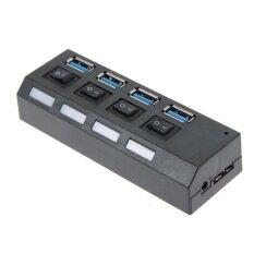ขาย Beautymaker High Speed 5Gbps 4 Ports Usb 3 Hub On Off Switcheswith Ac Power Adapter Cable For Pc Laptop Us Intl Unbranded Generic ใน จีน