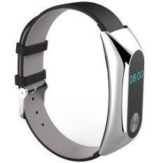 ซื้อ Beautymaker Luxury Genuine Leather Watch Strap Bracelet Wrist Band For Xiaomi Mi Band 2 Intl