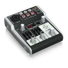 BEHRINGER อุปกรณ์บันทึกเสียงในคอมฯ รุ่น XENYX 302 USB (สีเทาดำ)รับประกันศูนย์