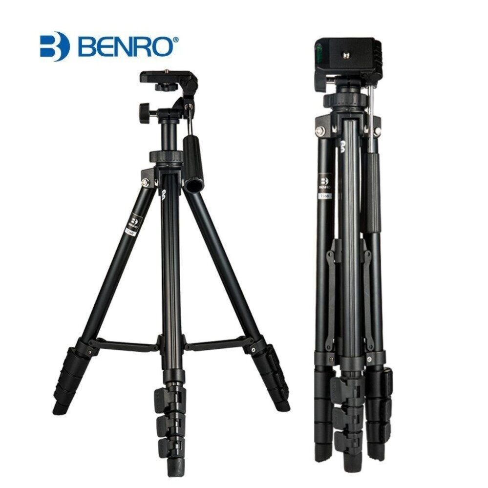 Benro T560 56.5 Inch Digital SLR Camera Aluminum Travel Portable Tripod with Bag