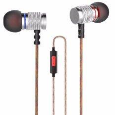 ขาย ซื้อ ออนไลน์ Best Metal Earbuds Kz Edr1 Dynamic Dj Hi Fi Sound Deep Bass Music Stereo In Ear Headphone Earphone With Microphone Remote หูฟังสเตอริโอ หูฟังพร้อมรีโมทและไมโครโฟน รุ่น Bb0042 Silver