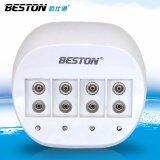 ราคา Beston เครื่องชาร์จถ่าน 4 ช่องทาง สำหรับแบตเตอรี่ขนาด 9V Beston