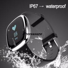 ราคา Betreasure P2 อัตราการเต้นหัวใจความดันโลหิตตรวจสอบสมาร์ทวงกิจกรรมติดตามกันน้ำกำไลสำหรับ Ios และ Android นานาชาติ เป็นต้นฉบับ